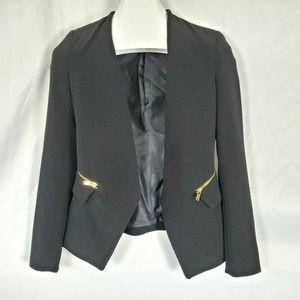 Zara Basic Blazer Jacket Moto Zippers W1331